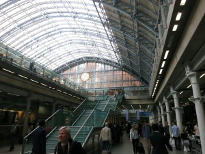 St. Pancras Station in London.