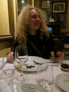KatieRose after she tried Escargot & Lydia got grossed out.