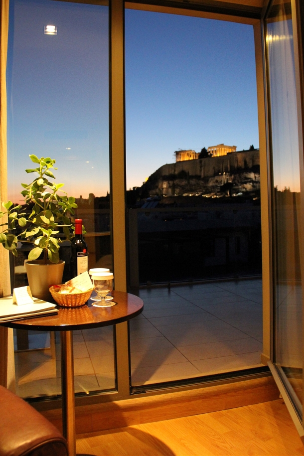 Night Acropolis from Room
