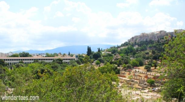 Agora Stoa Acropolis View